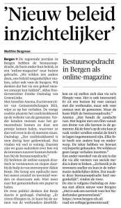 Alkmaarse Courant, 2 augustus 2018,