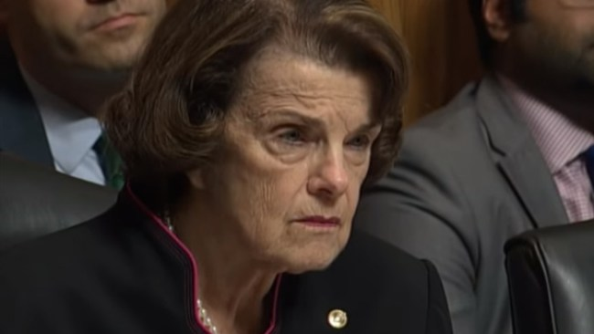 Dianne Feinstein at the Kavanaugh Hearing (foto Before It's News)
