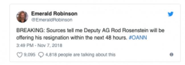 Emerald Robinson tweet (foto Before It's News)
