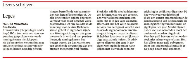 Helderse Courant, 12 januari 2019