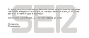 Pietro Quadrino - Letter to Juan Carlos Martel, director del Teatre Lliure (2)