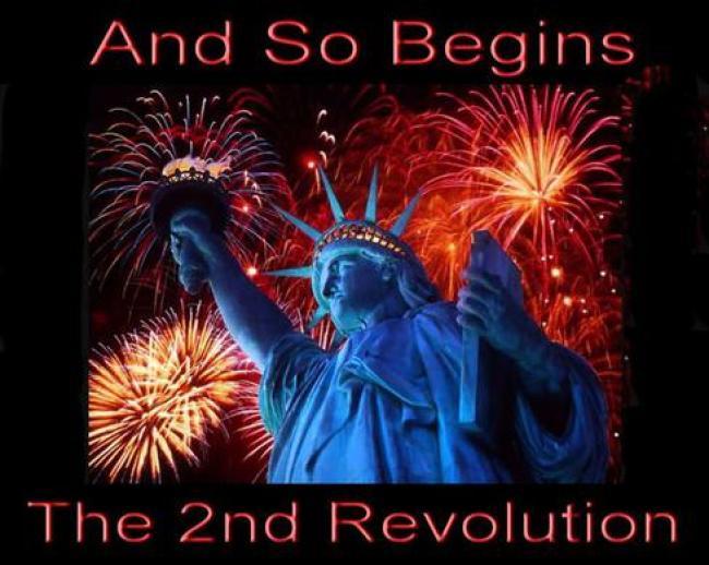 And So Begins The 2nd Revolution (foto Tom Heneghan Briefings)