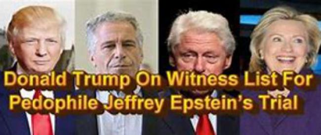 Donald Trump On Witness List For Pedophile Jeffrey Epstein's Trial (foto Before It's News)