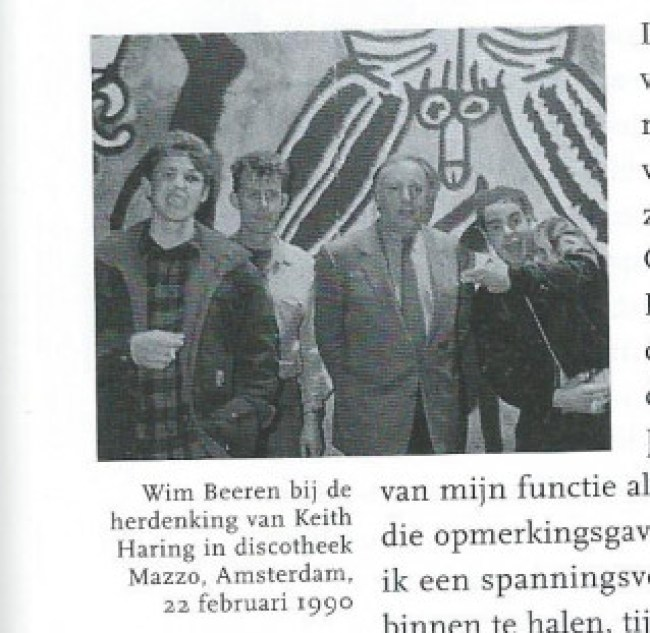 Wim Beeren at the In Memoriam for Keith Haring in the Mazzo (foto Patricia Steur)