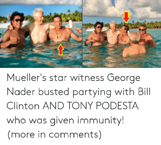 Nader busted partying (foto Before It's News)