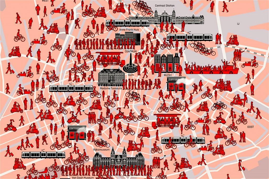 René van Asselt – Hoe terecht zijn de klachten over 'toeristenhel' Amsterdam (foto Elsevier Weekblad)