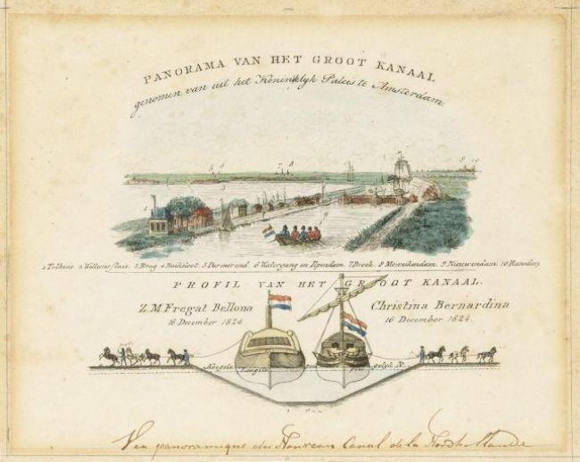 Sluis bij Amsterdam en passage van de eerste schepen (foto Noordhollands Archief)