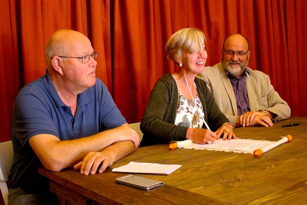 V.l.n.r. André Koning, Heleen Keur & Hans Broekmeulen (foto L.O.S. Den Helder)