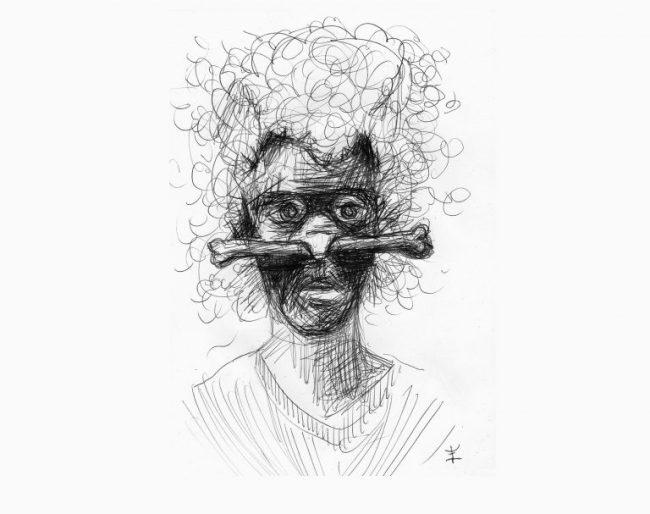 Indra Eendragt - Zelfportret met plastic neusbot