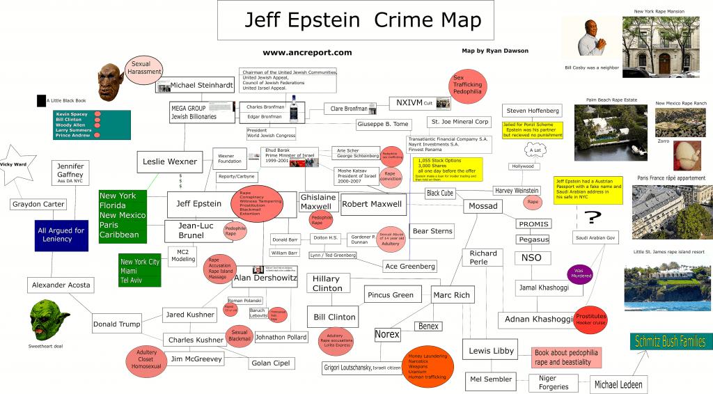 Jeff Epstein Crime Map (foto Ryan Dawson)