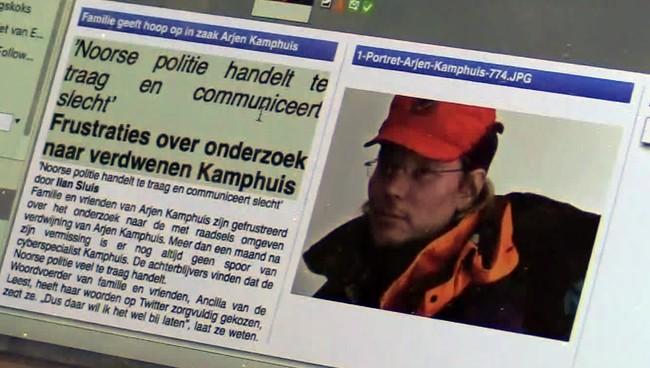 Nyheten om den savnede Arjen Kamphuis gikk verden rundt (foto Faksimile)
