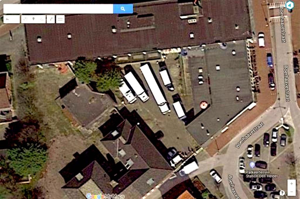 Ontruiming van Rob Scholte Museum vereeuwigd op Google Maps (foto Frank Buschman/Google Maps)