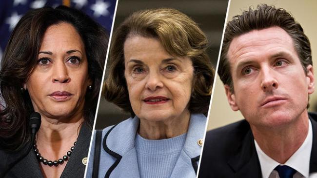 U.S. Treasury Embezzlement Conspirators Kamala Harris, Dianne Feinstein & Gavin Newsom