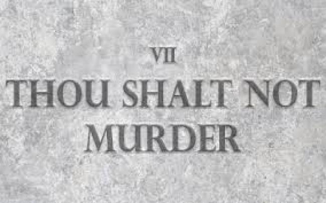 VII THOU SHALT NOT MURDERN (foto What Does It Mean)
