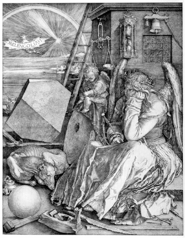 Albrecht Dürer - Mélancolie (foto Wikipedia)
