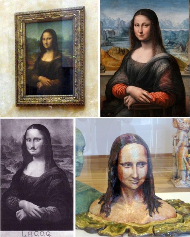 Da Vinci + Prado copy + Duchamp + Arneson