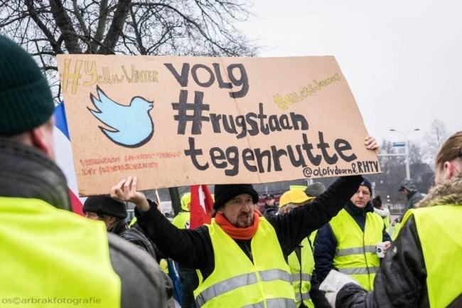 Tegen Rutte (foto Oscar Brak)