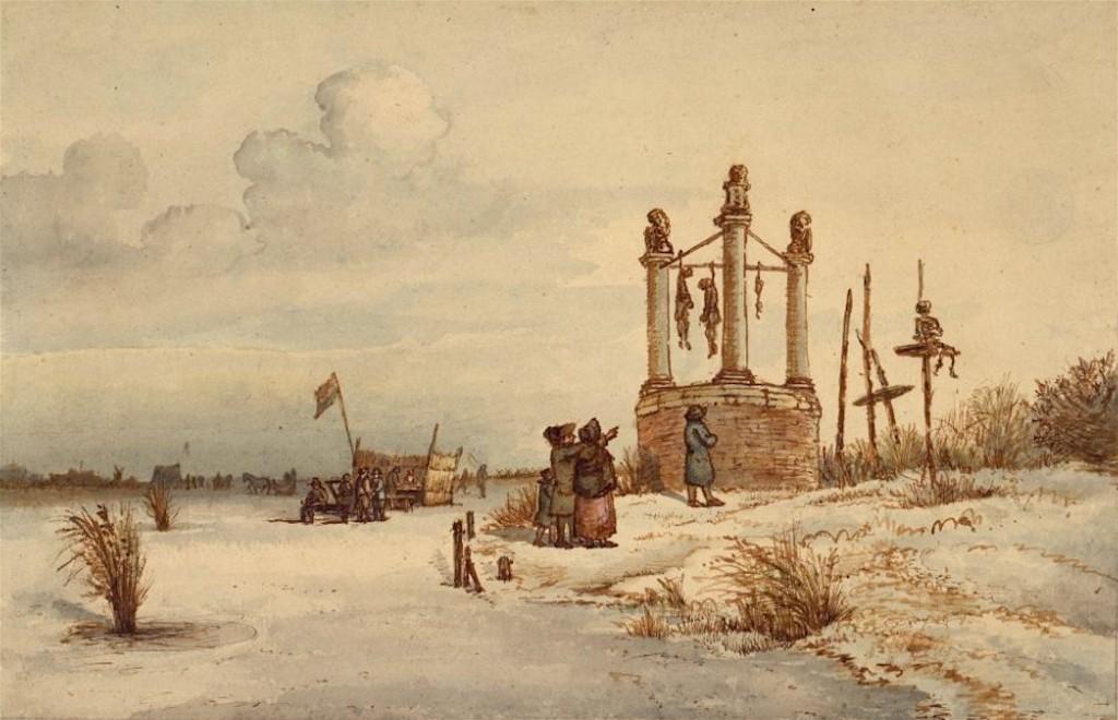 Gerrit Lamberts – Galgenveld van Amsterdam in 1795