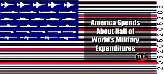 America Spends About Half of World's Military Expenditures (foto europereloaded.com)