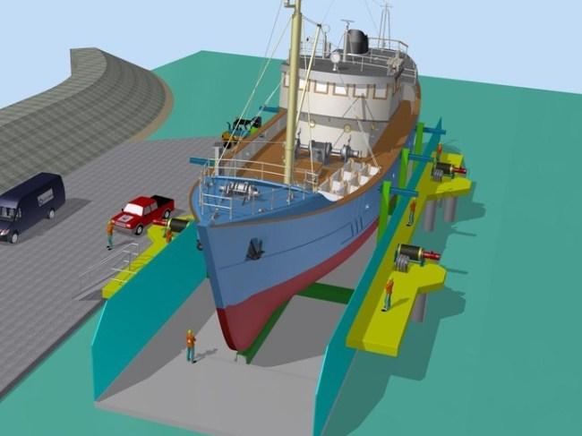 Een impressie van de toekomstige scheepslift (foto Luyt)