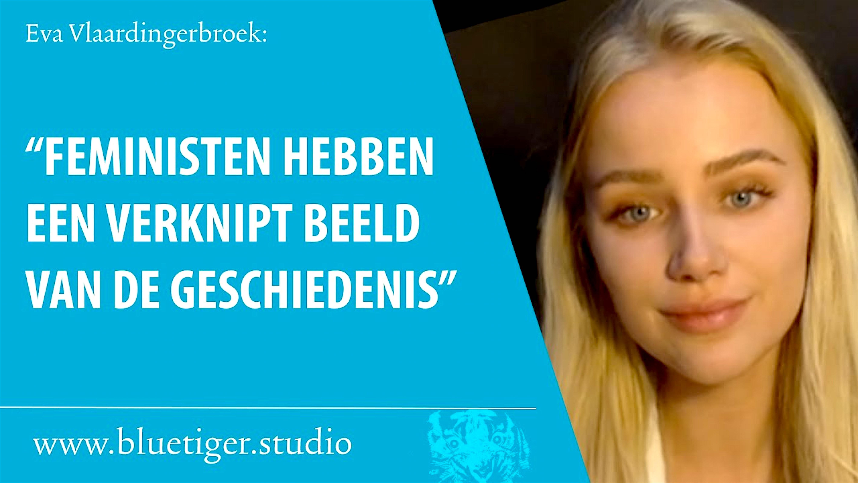 """Eva Vlaardingerbroek: """"Feministen hebben een verknipt beeld van de geschiedenis"""" (foto YouTube)"""