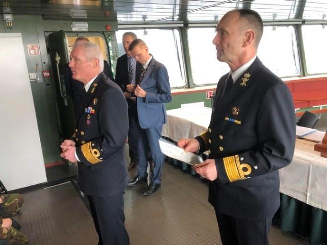 Admiraal Rob Kramer en ranggenoot Arie Jan de Waard (foto Arie Booy)