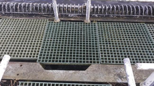 De huidige inlaat bij het Noordholands Kanaal bij Sint Maartensvlotbrug voor het koelwater, dat de huidige Hoge Flux Reactor in Petten gebruikt (5) (foto Johan Hartendorp)
