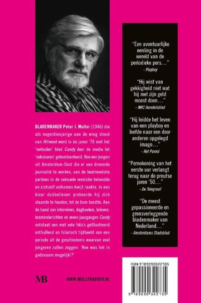 Peter J. Muller - Seksbaron tegen wil en dank (back cover, foto bol.com)
