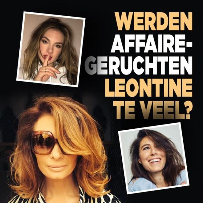 Werden affaire geruchten Leontine te veel? (foto DenD)