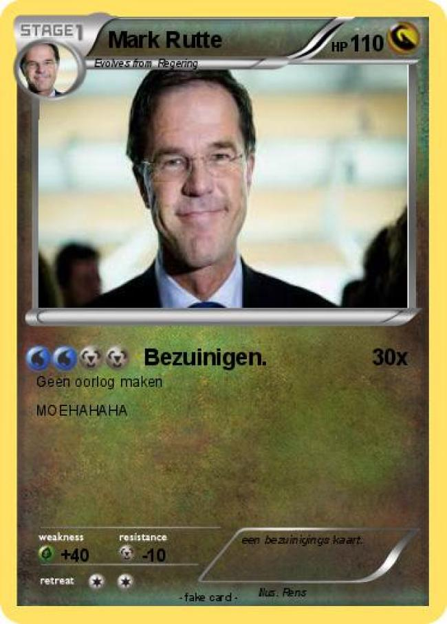 Bezuinigen (foto My Pokemon card)