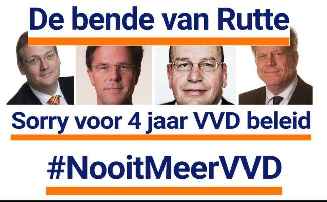 De bende van Rutte (foto Twitter)