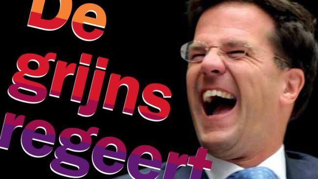 De grijns regeert (foto Volkskrant)