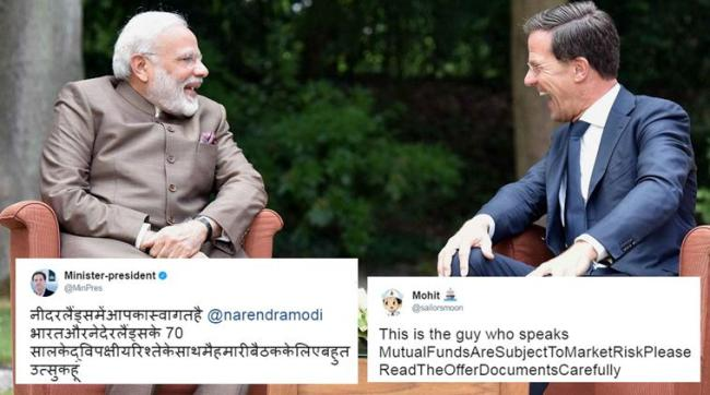 Amsterdam: Prime Minister Narendra Modi meeting the Prime Minister of Netherlands, Mark Rutte at Amsterdam, Netherlands on Tuesday. PTI Photo / PIB(PTI6_27_2017_000148B)