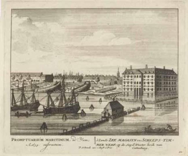 Het marineterrein en het arsenaal in de tijd van Michiel de Ruyter (foto NHD)