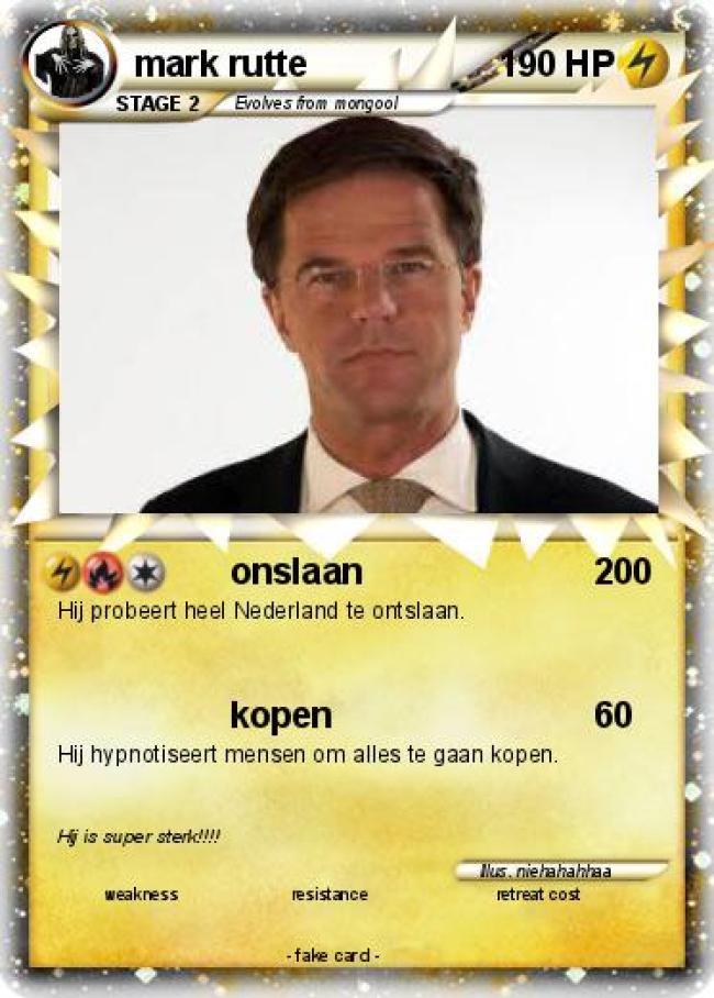 Hij probeert heel Nederland te ontslaan (foto My Pokemon card)