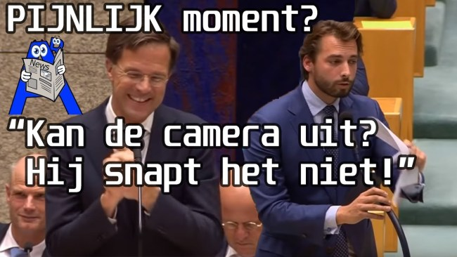 Kan de camera uit? (foto YouTube)