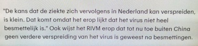 Quote van het Openbaar Ministerie en de binnenkort in te stellen parlementaire enquêtecommissie RIVM Covid 19 (foto Twitter)