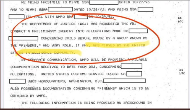 The Finders' role in the US intelligence Comminity (foto cathy fox blog on child abuse)