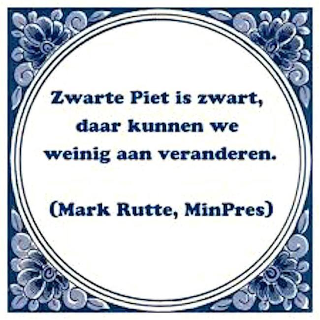 Zwarte Piet is zwart (Mark Rutte, MinPres)