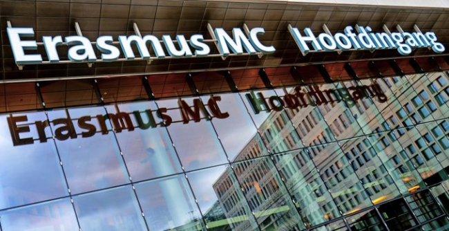Hoofdingang Erasmus MC (foto Twitter)