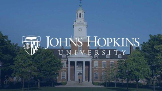 Johns Hopkins University (foto Twitter)