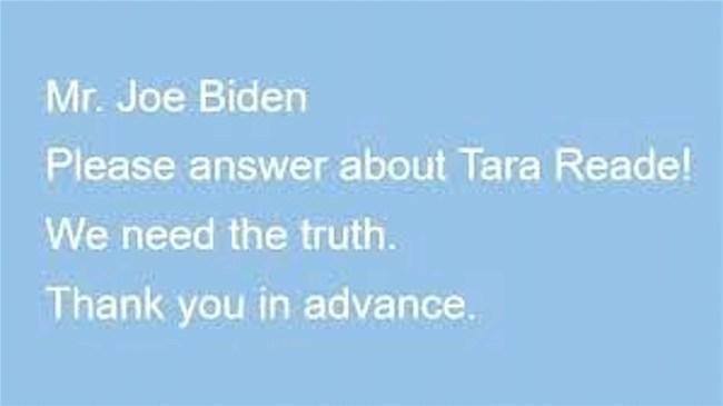 Mr Joe Biden Please answer (foto Twitter)