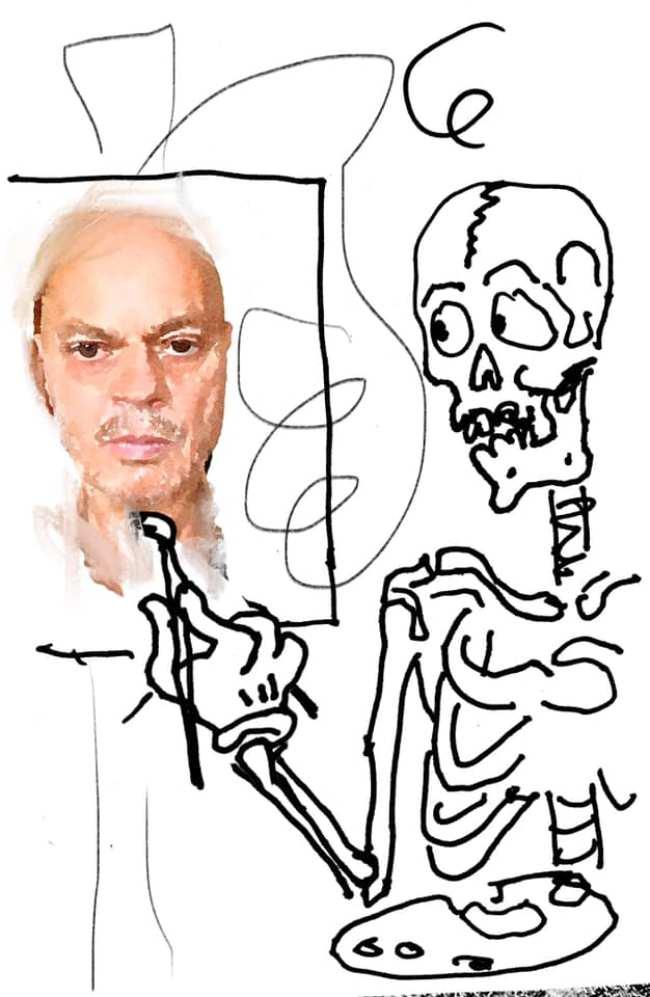 Peter Klashorst - Studie voor een zelfportret (1)