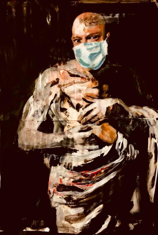 Peter Klashorst - Zelfportret met bandages