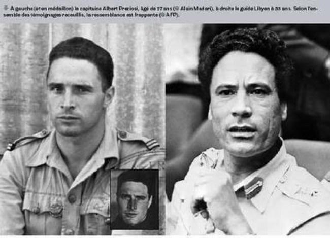 Albert Preziosi & a young Muammar Gaddafi (foto Aangirfan)