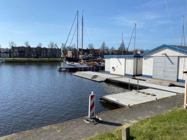 De Groene Draeck, hier bij de Marinewatersportvereniging (foto NHD)