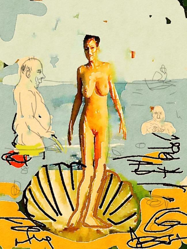 Peter Klashorst - Geboorte van Venus op Pattaya Beach