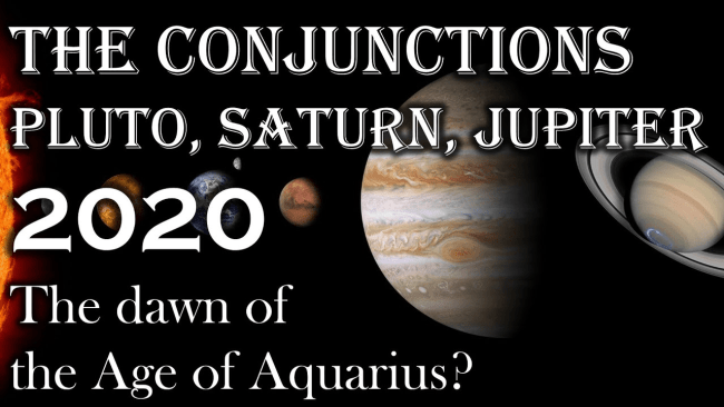The conjunctions of Pluto, Saturn and Jupiter in Capricorn (foto boel-mystery-school.org)