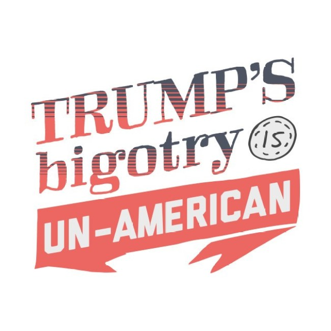 Trump' S bigotry is un American (foto TeePublic)