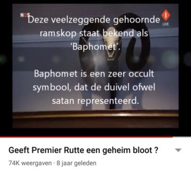 Baphomet representeert satan (foto Twitter)
